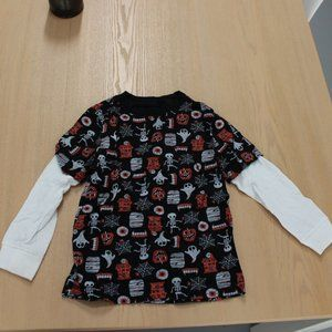 Gymboree Halloween Long Sleeve Faux Double Shirt 4